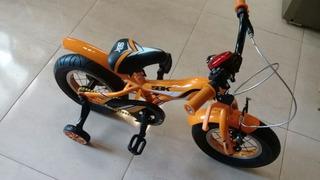 Bicicleta Rodado 12 Para Niñas Y Niños Rueditas Luces.sirena