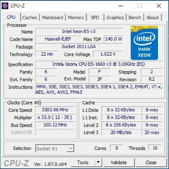Processador Intel Xeon E5-1660 V3 Qs Qgsl 3ghz 8c Lga2011-3