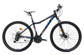 Bicicleta Mountain Bike Rodado 29 Slp 25 Shimano Cambios Frenos A Disco Llantas Doble Pared Suspens Aluminio Lady Mujer
