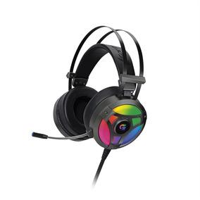 Headset Gamer Pc Fone Ouvido P2+usb Fortrek Pro Cinza