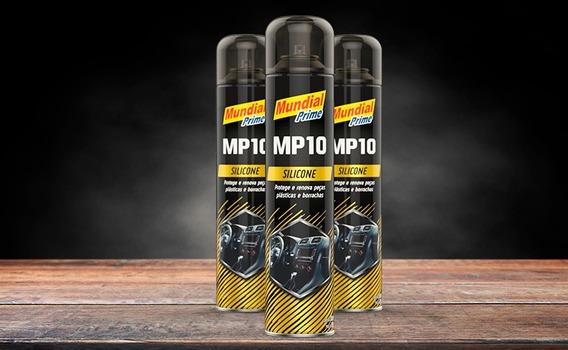 Kit 06x Silicone Spray Mundial Prime 300 Ml Mp10