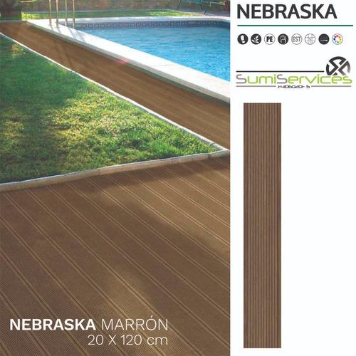 Porcelanato Castel Tipo Madera Deck Nebraska 120x20