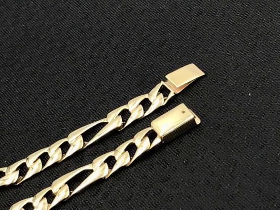 Esclava Oro Fino 10k Troquelada Hombre Sólido 21.5 Cm / 8 Mm