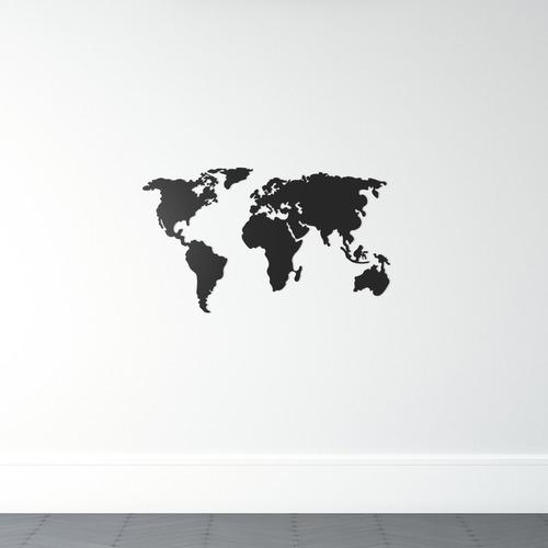 Imagem 1 de 3 de Quadro Decorativo Parede Escultura Mapa Mundi 90cm