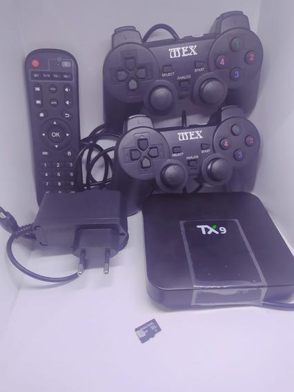 Tvbox Retro Box Games Antigos Simulador Tx9 4giga Ram 32 Rom