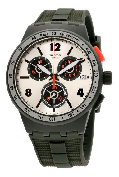 Relógio Masculino Swatch Susg405 Pulseira De Silicone