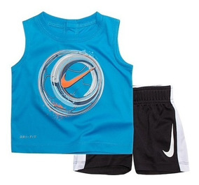 Conjunto Nike Infantil Menino 2 Pcs Drifit Camiseta E Short