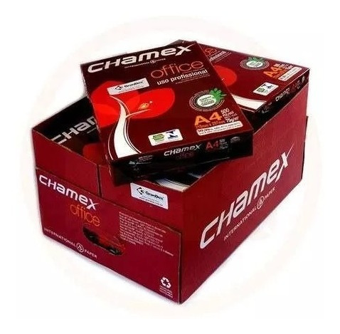 Papel Sulfite 75g Alcalino 210x297 A4 Chamex Office Cx 10 Un