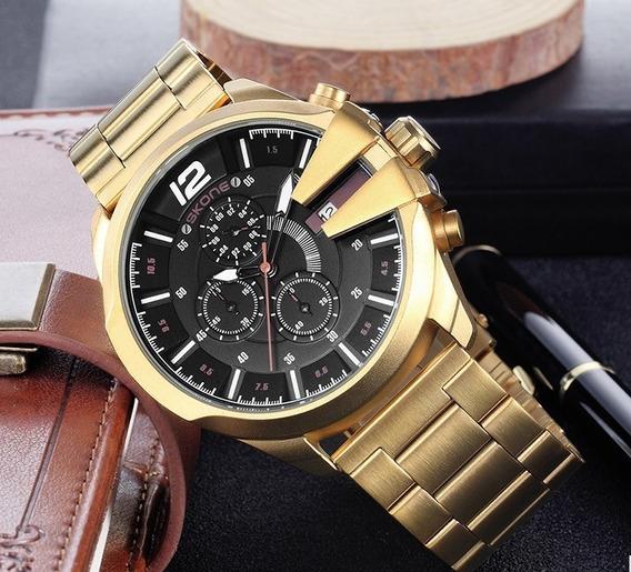 Relógio Skone Masculino Original Luxo Funcional Fr Grátis