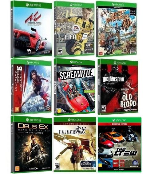 Kit 10 Jogos Para Xbox One - Midia Fisica Original E Lacrado