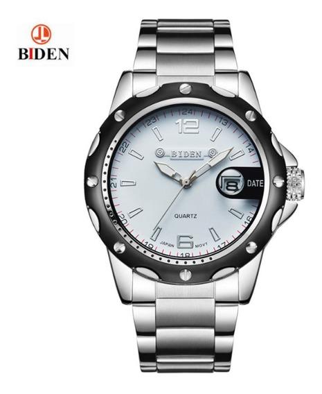 Relógio Masculino Biden 4808 White À Prova D
