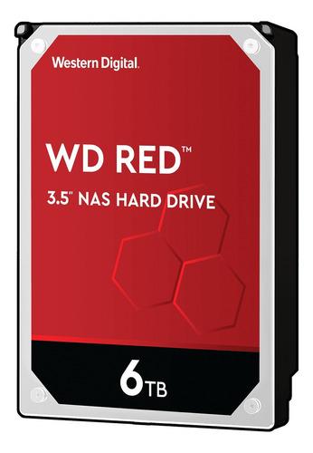 Disco duro interno Western Digital WD Red WD60EFAX 6TB rojo