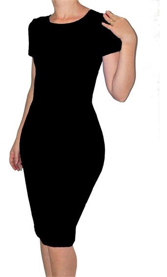 Vestido Tubinho Básico Midi  moda Evangélica