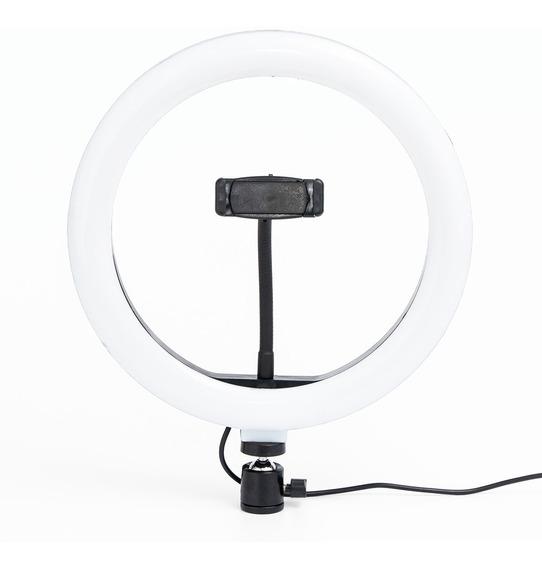 Iluminador Led Ring Light Maquiagem Make Fotos Selfie 26 Cm