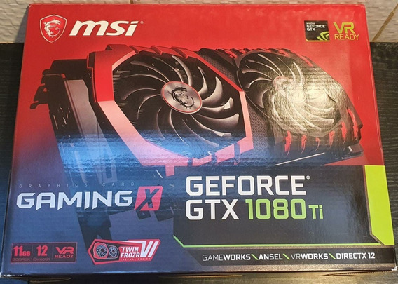 Msi Geforce Gtx 1080ti 1080 Ti Gaming X Oc 11gb Gddr5x