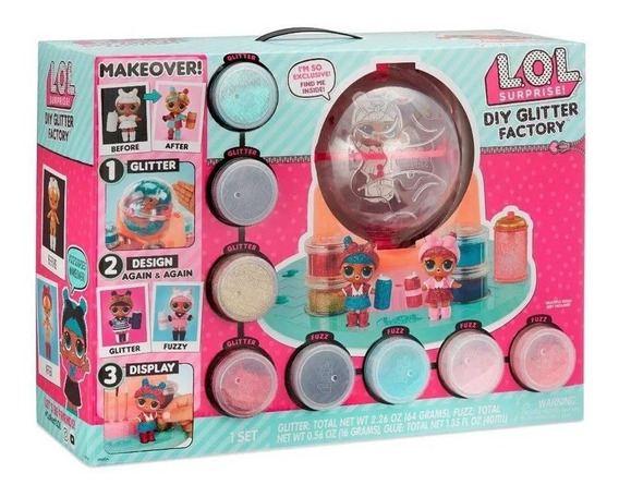 Brinquedo Lol Surprise Fabrica De Glitter Diy Candide 8924
