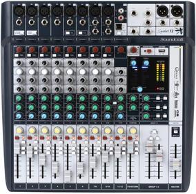 Mesa De Som Mixer Soundcraft Signature 12 Canais Original