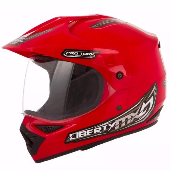 Capacete Moto Bike Trilha Cross Liberty Mx Pro Tork Masculino/feminino 56/58/60