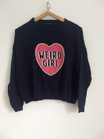 Sweater Fiveblu Corazón Weird Girl