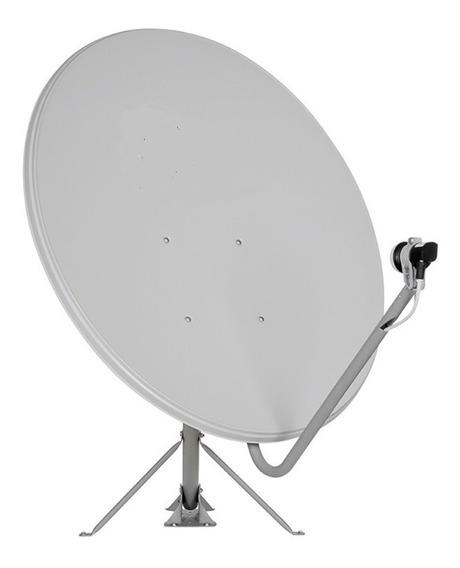 Antena Parabólica Sat Banda Ku 75cm 30 Unidades Sem Lnbf