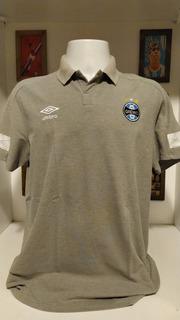 Camisa Futebol Gremio Umbro Cinza Com Gola