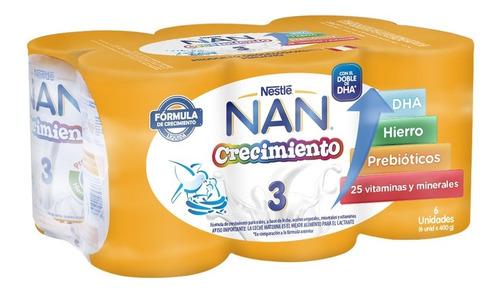 Nan® 3 Crecimiento 6x400g - Fórmula Láctea Líquida