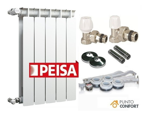 Radiador Peisa T500 X 8 Elementos + Kit Completo + Envio