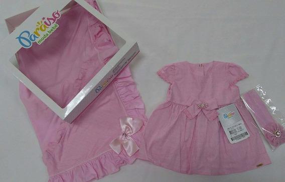 Kit Saida Maternidade Bebê Menina Paraiso - Rosa Ref 6642