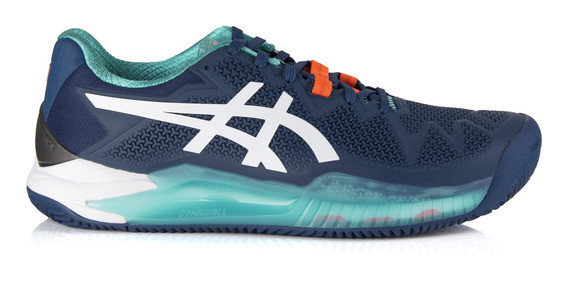 Tênis Asics Gel Resolution 8 Clay Mako Azul E Branco