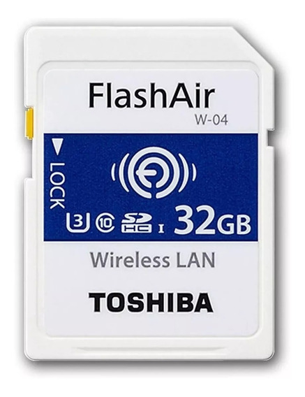 Cartão Sd Toshiba Flashair Wifi 32gb W4 4k Menor Preço