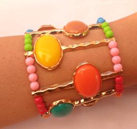 Bracelete Maxi Multi Colorido