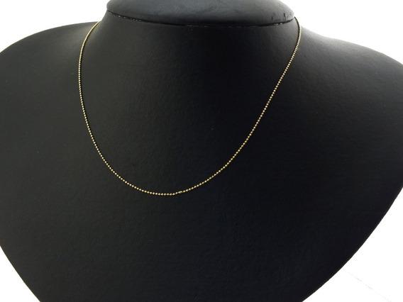 Corrente De Esferas Diamantadas Feminina 45c Ouro 18k J20815
