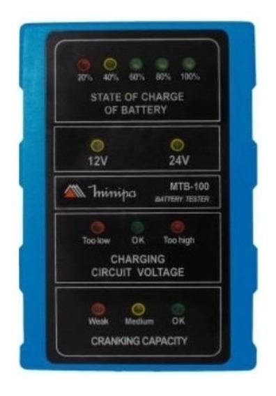 Testador De Bateria Automotivo Minipa Mtb-100