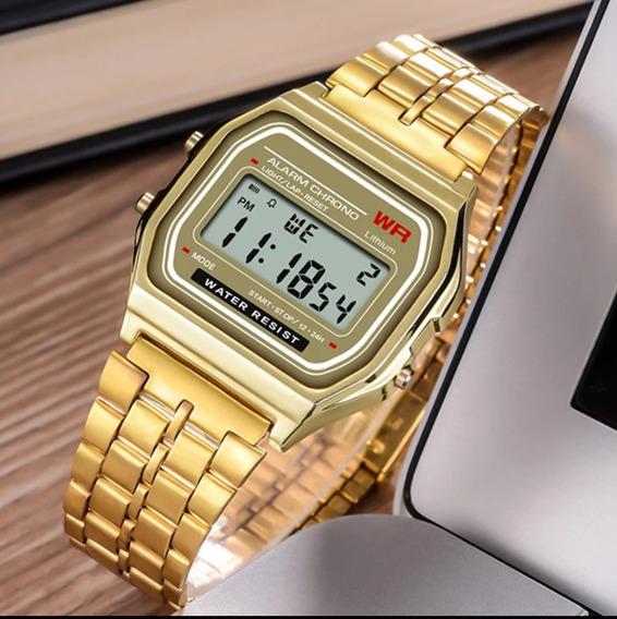 Relógio Digital Promoção Prova De Água Cronometro Luminoso
