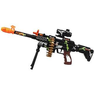 Misión Militar De Combate Machine Gun Toy Con Luz Led Luc