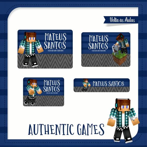 25 Etiquetas Escolares Authentic Games