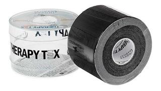 Bandagem Elástica Adesiva (5m X 5cm) Therapy Tex - Preta