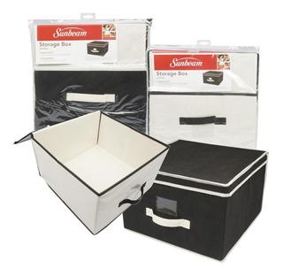 2x Caja Jumbo Almacenamiento Plegable Tela Sunbeam 40cms