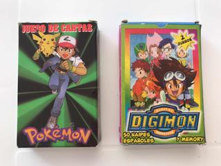 Pokemon + Digimon Cartas Naipes