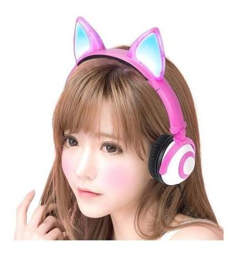 Headphone Cosplay Com Iluminação De Led - Hf-c30