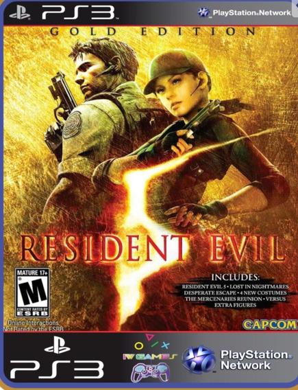 Ps3 Resident Evil 5 Gold Edition Mídia Digital