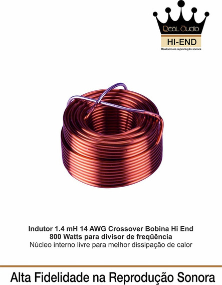 Indutor 1.4 Mh-14 Awg Divisor Frequencia Hi End Real Audio