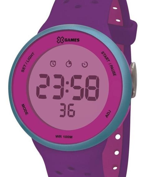 Relógio X-games Feminino Digital Rosa Xfppd075 Rxux