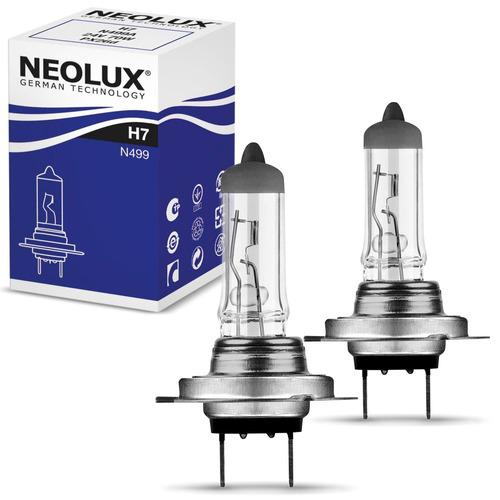 Par Lâmpada Halógena Neolux Standard H7 3200k 55w Automotiva