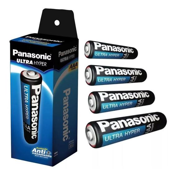 40 Pilhas Panasonic Super Hyper Palito Aaa Tubo