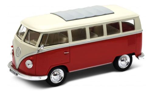Camioneta Kombi Año 1963 Roja Coleccion Welly Original 1:24