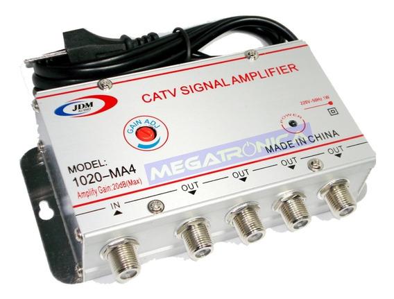 Amplificador Distribuidor Señal Cable Catv 4 Salidas 20db