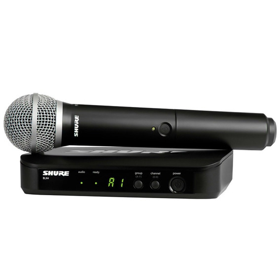 Microfone Shure Original Sem Fio Blx24 Pg58 M15 C/ Garantia