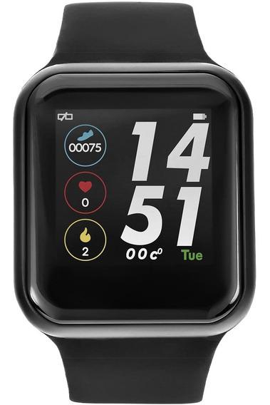 Smartwatch F8 Borracha Preta