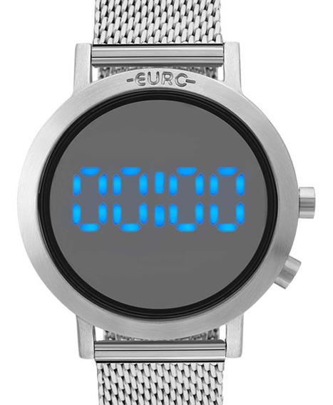 Relógio Euro Prateado Digital Led Feminino Eubj3407ab/3p Nf